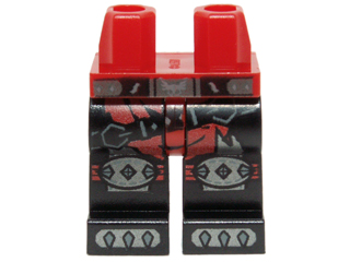 LEGO New Red Minifigure Legs with Black Claws Pattern