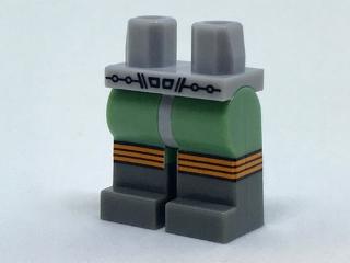 Lego Light Bluish Gray Hips Sand Green Legs Retro Space Belt and Dark Boots