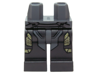 Lego Black Hips Legs Pearl Dark Gray Yellow Belt Pearl Dark Gray Thigh Armor