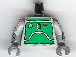 LEGO SW Custom Printed Arms Mandalorian Warrior Dark Gray
