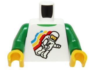LEGO Minifigure Torso  Green Top with Sports Logos Pattern  S19-Ftb