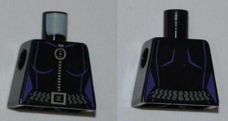 Ring Zipper Pull Black LEGO Gray Belt Pattern Minifig Torso Female Outline