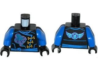 Lego Torso Dark Blue Jay Hands in Black Ninjago 973pb2807c01 Upper Body New
