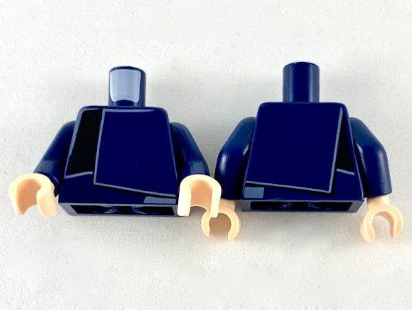 Lego New Dark Blue Torsos Layer Shirt with Dark Blue and Black Panels Pattern