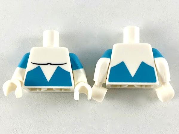 medium azure Lego Torso azurblau 973pb3520c01 Oberkörper Jasmine Disney Neu