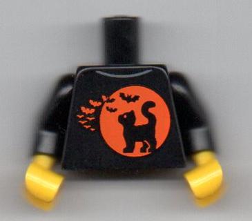 HALLOWEEN PART NEW Orange Moon Black Cat Bat Torso NEW LEGO STORE EXCLUSIVE