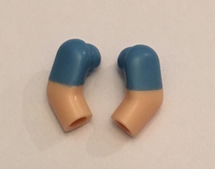 LEGO PART MINIFIGURE 981 982 983 ARMS /& HANDS SAND BLUE AND FLESH 1 PAIR