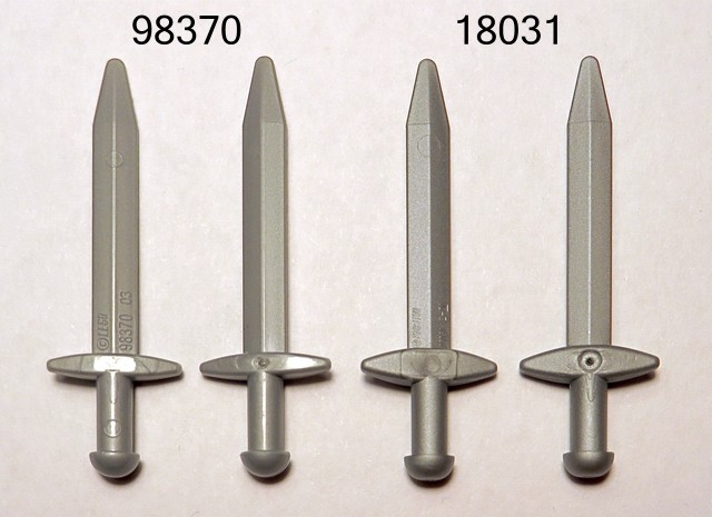 Lego 5 New Pearl Dark Gray Minifigure Weapon Sword Greatsword Pointed Crossguard