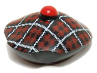 Minifig Headgear Hat Black Scottish Tam o/'Shanter // Tartan Pattern LEGO