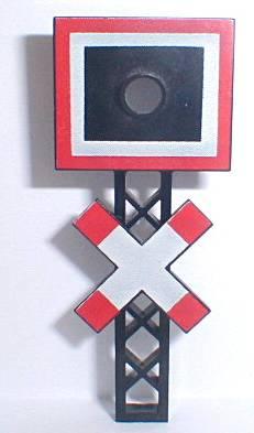 BrickLink - Part lcs12v : Lego Train Level Crossing Sign