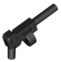 Two Barrel Pistol 4 LEGO Black Minifig Weapon Gun