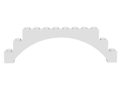 Lego 6108 Brick Arch 1 x 12 x 3 Lot Of 2 White