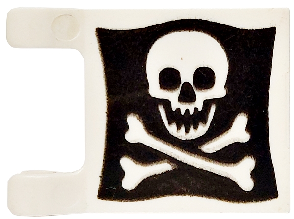 LEGO Pirate Flag 2x2 Skull and Crossbones Including Pole