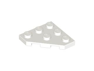 LEGO WHITE 3 x 3 WEDGE PLATE x 4 CUT CORNER PART 2450