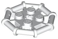 LEGO Lot of 2 Dark Bluish Gray 2x2 octagonal Bar Frame Plates