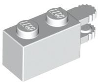 Lego 25 New Light Bluish Gray Hinge Bricks 2 x 2 Top Pieces