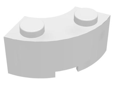 Lego Brick Round Corner 2x2 macaroni stud notch Part No 85080 White x 4