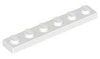LEGO 50 X PIASTRA PIATTA bauplatte 3666 NERO 1x6 scanalata