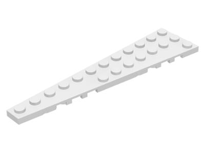LEGO Pair of White 12x3 Wedge Plates