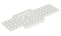 Base 6 x 16 x 2//3 with 4 x 4 Recessed Center and 4 Holes Vehicle
