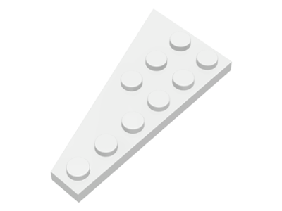 Plate 6 x 3 Right and Left Dark Red Lego 54383 54384 x1 Wedge