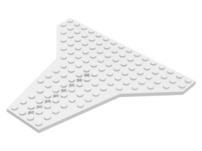 LEGO PART 6219 BLACK WEDGE PLATE 16 X 14 SHUTTLE SPACE TOWN SETS