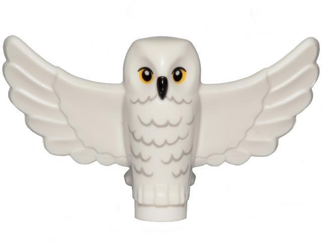 Figurka LEGO Bílá sova v letu zepředu