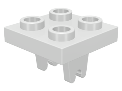 10x LEGO™ Modified 2 x 2 with Wheel Holder Plates