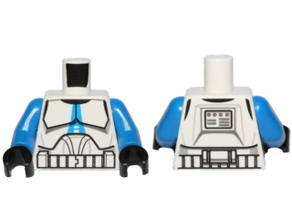 Lot of 5 NEW CLONE PILOT Lego Star Wars White Torso Armor Clone Wars Pattern