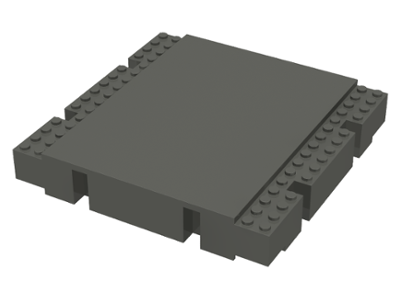 Raised Platform 16 x 16 x 2 1//3 LEGO 2617 Light Gray Baseplate