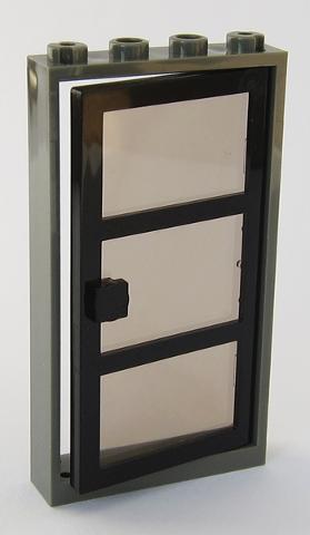 Lego Black Door Frame With Trans Black Glass Door 3 Panes