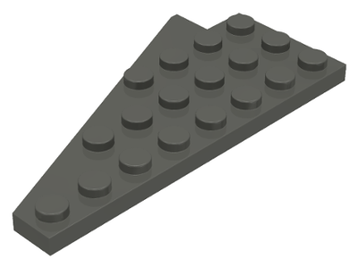 Black 4x8 Left /& Right Wing Plate Wedge Set Part # 3933//3934 LEGO Parts