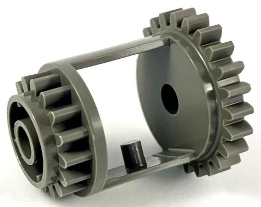 Differential LEGO Technic 6573 Getriebe 24-16 Zähne alt-dunkelgrau 8458