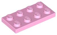 Lego Plate 2 x 4 Part No 3020 Light Bluish Grey x 10