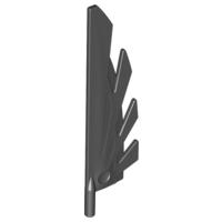 neu 6 x 11091 LEGO Flügel 9L mit stilisierten Federn schwarz