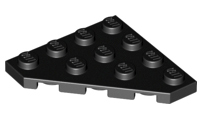 LEGO Parts NEW Pack of 5 Wedge Plate 3x3 Cut Corner 2450 BLACK