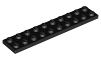 Lego 5 x Platte 2x10 rot 3832 Basic