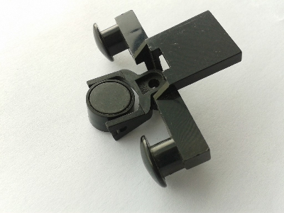 Lego Train Buffer Beam with Black Train Coupling and Black Magnet Cylindrical (4022 / 2920 / 73092)