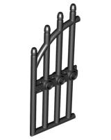 2 Gittertüren Gartentore 1x4x9 schwarz mit Haltesteinen LEGO 42448 NEUWARE