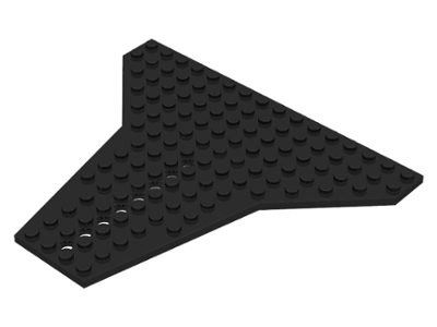 Lego-wedge wing plate 1x shuttle 16x14 6219 white//white//weiss