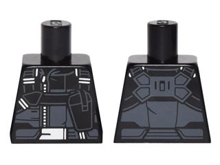 Lego Torso Jacket Straps, Holster, Silver Zipper, Belt Buckle Pattern