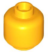 NEW Lego YELLOW MINIFIG HEAD Plain Solid