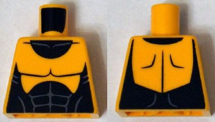 Lego Torso Muscles Outline with Black Suit Pattern