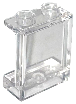 Hollow Studs 87552 TRANS CLEAR LEGO Parts~ 2 Panel 1 x 2 x 2 w Side Supports