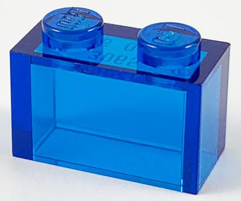 20x LEGO® Stein 1x2 ohne Mittelpin 3065 NEU Transparent Weiss Klar