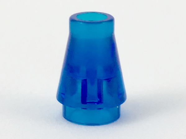 Trans-Yellow 2 X Lego 4589 Cone 1 x 1 without Top Groove