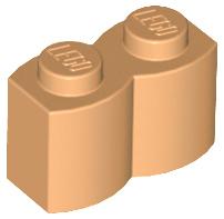 LEGO Parts Reddish Brown Brick 1 x 2 Log QTY 10 No 30136