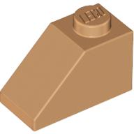 LEGO® Medium Nougat Slope 45 2 x 1 Part 3040