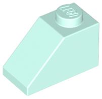 LEGO PART 3040 LIGHT BLUISH GREY SLOPE 45 2 X 1 FOR 25 PIECES