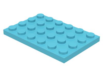 LEGO® Black Plate 4 x 6 Part 3032